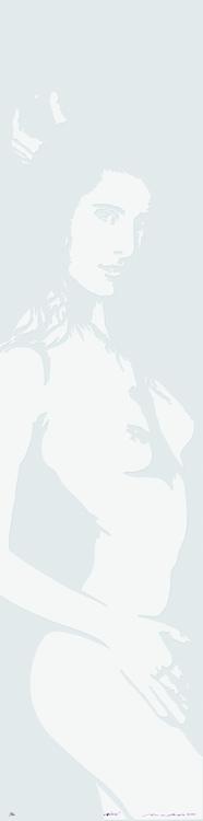 Linolschnitt: Grüezi (geprägt)