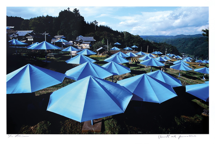 Blue Umbrellas Fotoedition