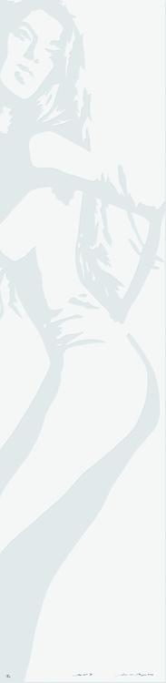 Linolschnitt: Model (geprägt)