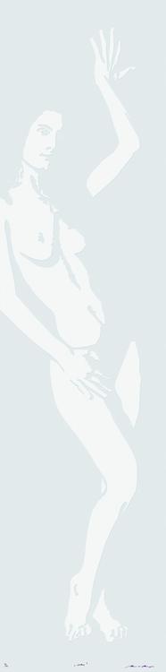 Linolschnitt: She (geprägt)