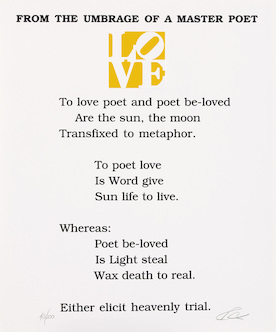"Love poem (gelb) aus ""The book of love"""