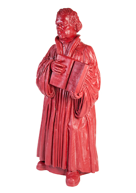 Hier stehe ich (Martin Luther) rot